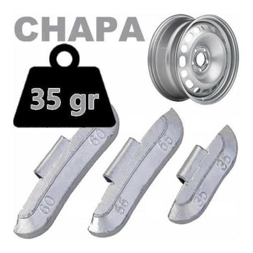 Caja de 50 Contrapesas de clip de 35gr. para llanta de Chapa de Acero.