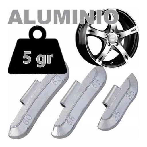 Caja de 100 Contrapesas de clip de 5gr. para llanta de Aluminio. [0]