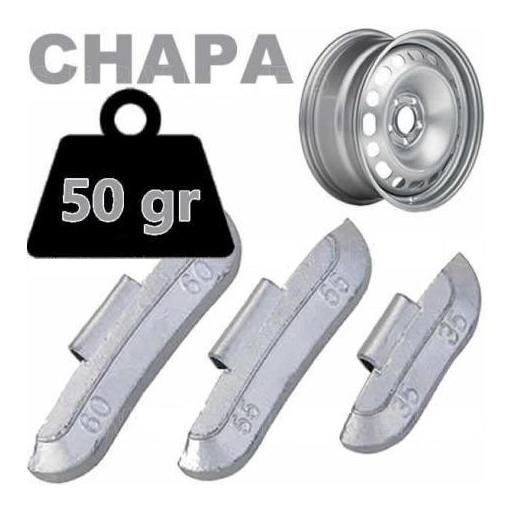 Caja de 50 Contrapesas de clip de 50gr. para llanta de Chapa de Acero.