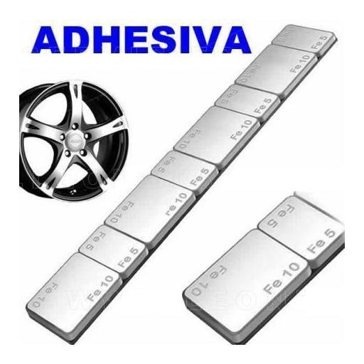 Caja 100 Contrapesas Adhesivas de Hierro en tiras de 60gr. (5-10-5-10)