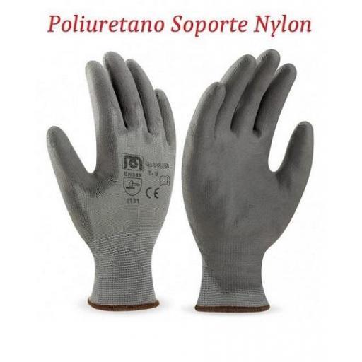 Guantes de Poliuretano soporte Nylon