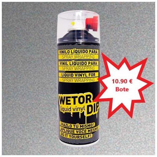Vinilo Liquido ALUMINIO METALIZADO Removible en Spray  400 ml.