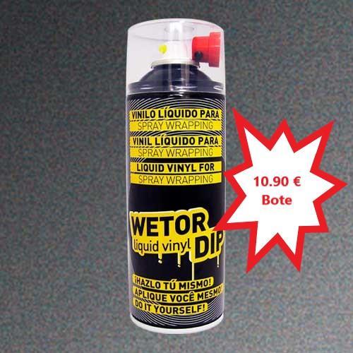 Vinilo Liquido ANTRACITA METALIZADO Removible en Spray  400 ml.