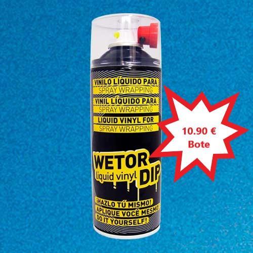 Vinilo Liquido AZUL METALIZADO Removible en Spray  400 ml.