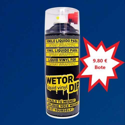Vinilo Liquido AZUL OSCURO MATE Removible en Spray  400 ml.