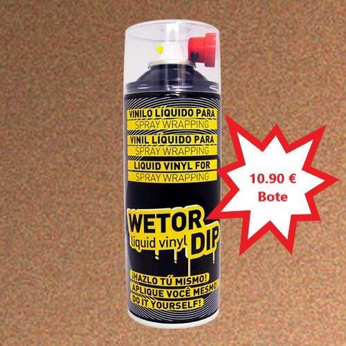 Vinilo Liquido BRONCE METALIZADO Removible en Spray  400 ml.