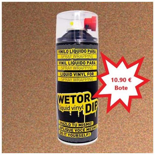 Vinilo Liquido BRONCE METALIZADO Removible en Spray  400 ml.