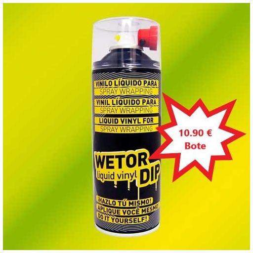 Vinilo Liquido FLUOR AMARILLO Removible en Spray  400 ml.