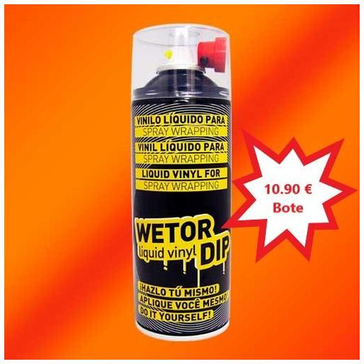 Vinilo Liquido FLUOR NARANJA Removible en Spray  400 ml.