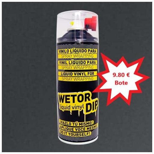 Vinilo Liquido GUN METAL Removible en Spray  400 ml.