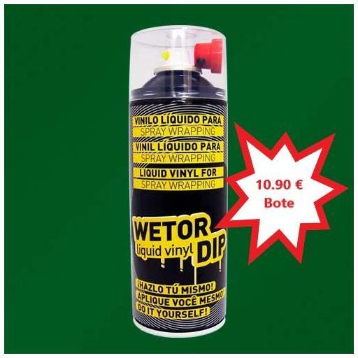 Vinilo Liquido VERDE MILITAR Removible en Spray  400 ml.