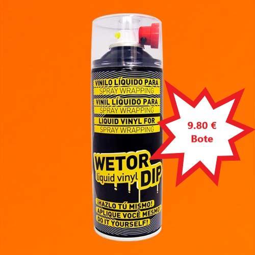 Vinilo Liquido NARANJA MATE Removible en Spray  400 ml.