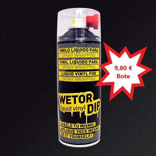 Vinilo Liquido NEGRO MATE Removible en Spray  400 ml.