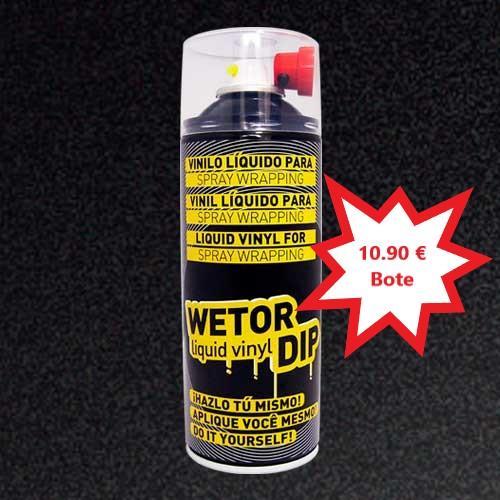 Vinilo Liquido NEGRO METALIZADO Removible en Spray  400 ml.