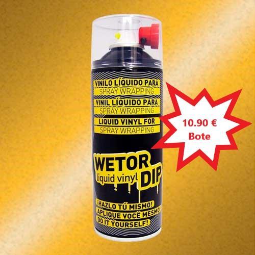 Vinilo Liquido PERLADO DORADO Removible en Spray  400 ml.