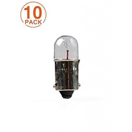 Lámpara M-Tech Piloto T4W 12V 4W BA9s  (10 Unidades)