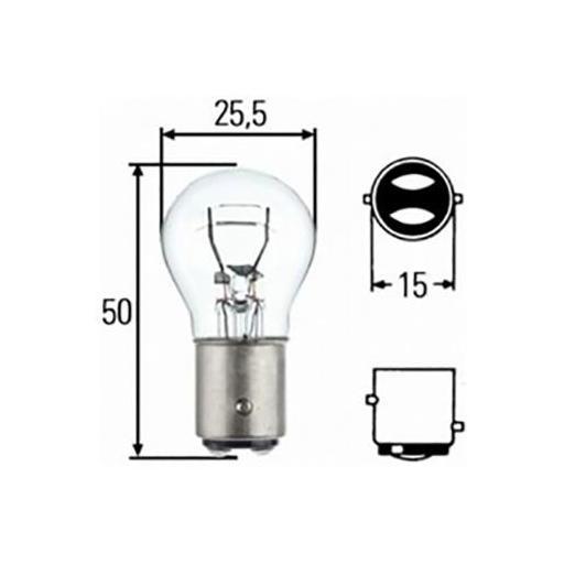 Lámpara M-Tech 2 Polos 12V 21/5W BAY15d  (10 unidades) [1]