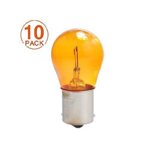 Lámpara 1 Polo 12V 21W PY21W AMBAR BAU15s  M-Tech  (10 unidades)