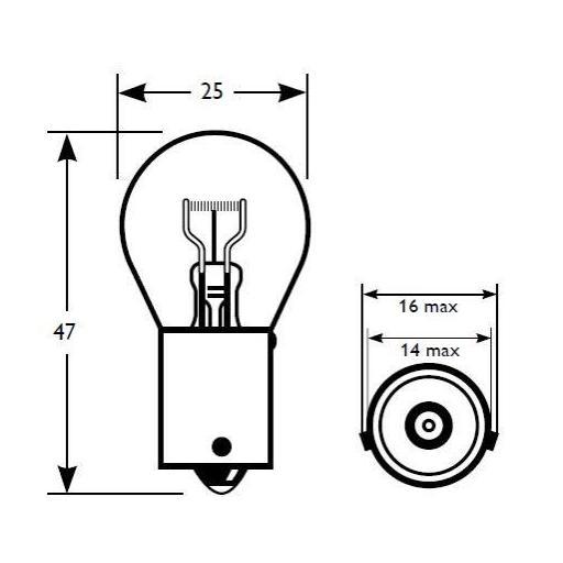 Lámpara 1 Polo 12V 21W PY21W AMBAR BAU15s  M-Tech  (10 unidades) [2]