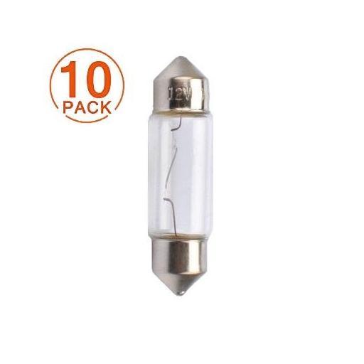 Lámpara C10W 12V/10W  SV8.5-8 T11x36  M-Tech (10 unidades)