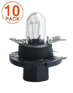 Lámpara BAX 12V/1.2W BX8.4d NEGRA M-Tech (10 unidades)