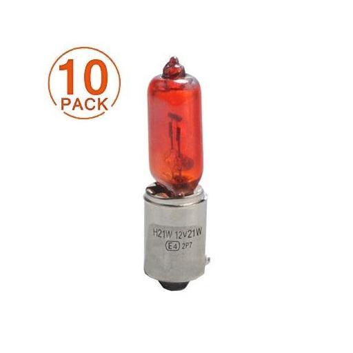 Lámpara Halógena 12V 21W HY21W AMBAR BAY9S  M-Tech
