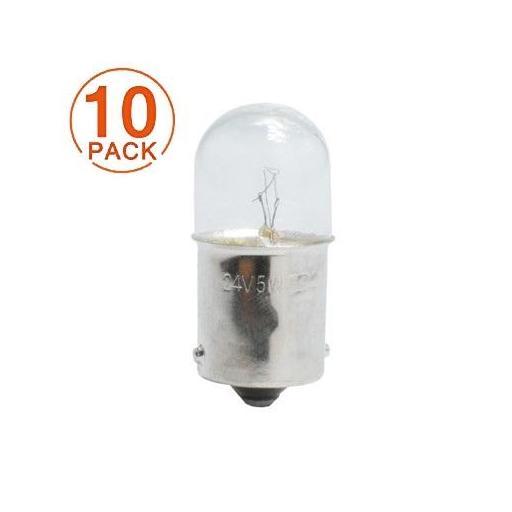 Lámpara M-Tech G18 24V/5W  Ba15s  (10 Unidades)