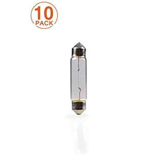 Lámpara M-Tech C10W 24V/10W T11x41 SV8.5-8  (10 Unidades)
