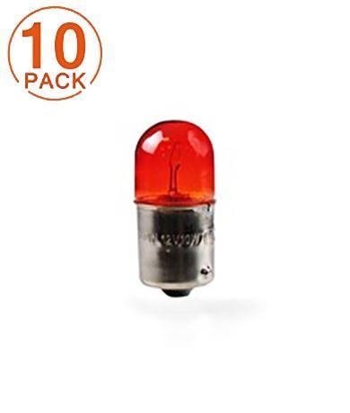 Lámpara M-TECH RY10W  12V 10W BAU15S AMBER (10 Unidades)