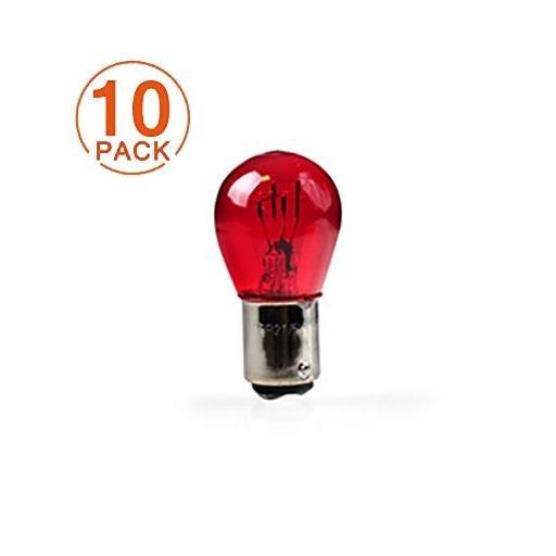 Lámpara M-TECH PR21/5W 12V/21/5W BAW15d Rojo (10 Unidades)