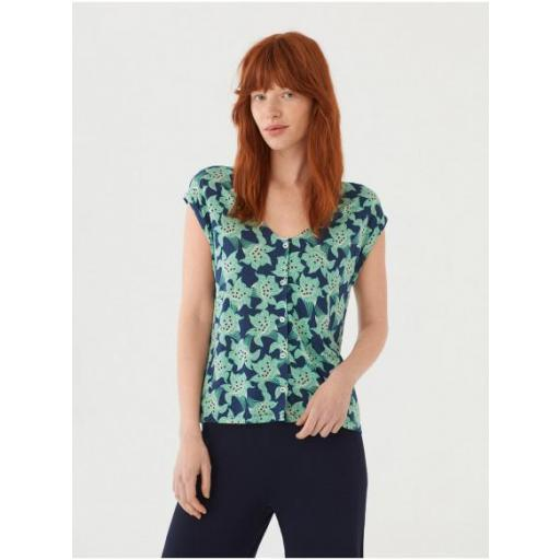 CAMISETA FLOWER PRINT CON BOTONES, NICE THINGS, REF. WJM016