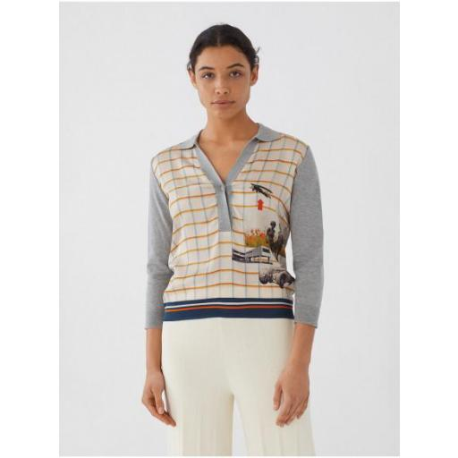 JERSEY CUELLO POLO ESTAMPADO BAUHAUS, NICE THINGS, REF. WKM007