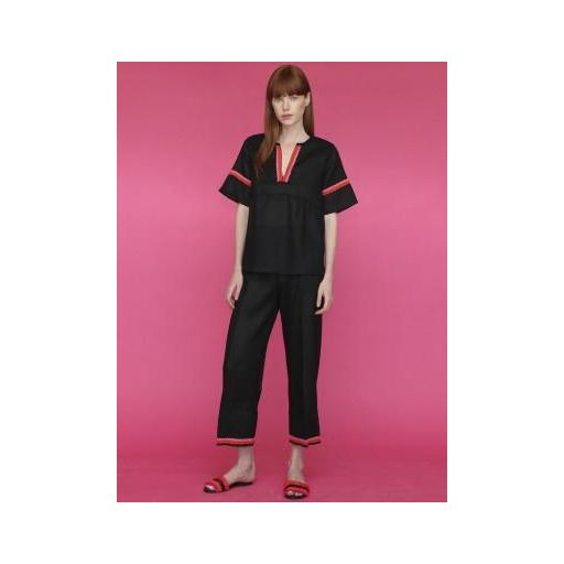 CAMISA MAMCEY BLACK LINEN, VILAGALLO, REF. 28340CMMAMS1224