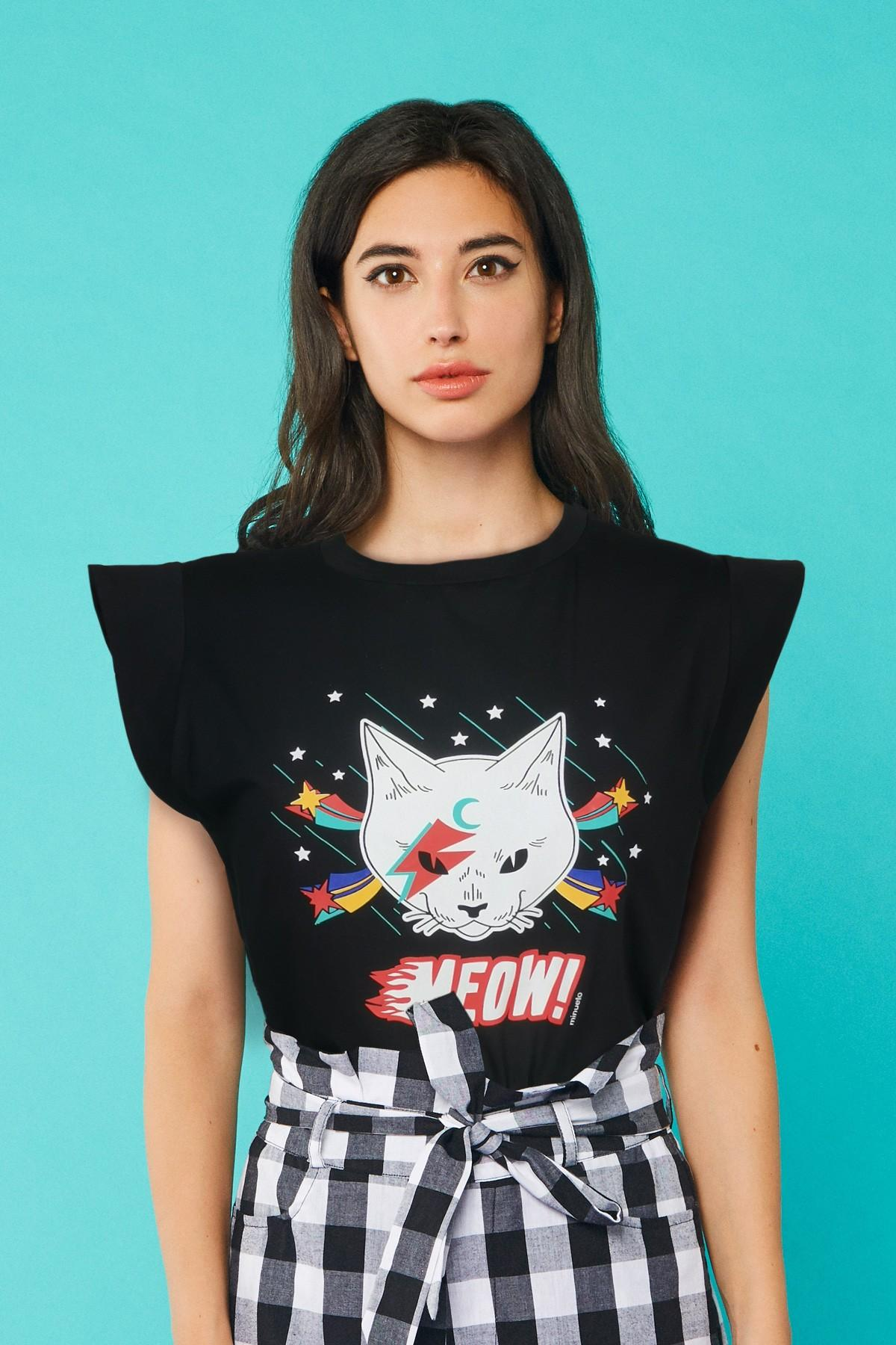 CAMISETA ROCK CAT, MINUETO, REF. 211072