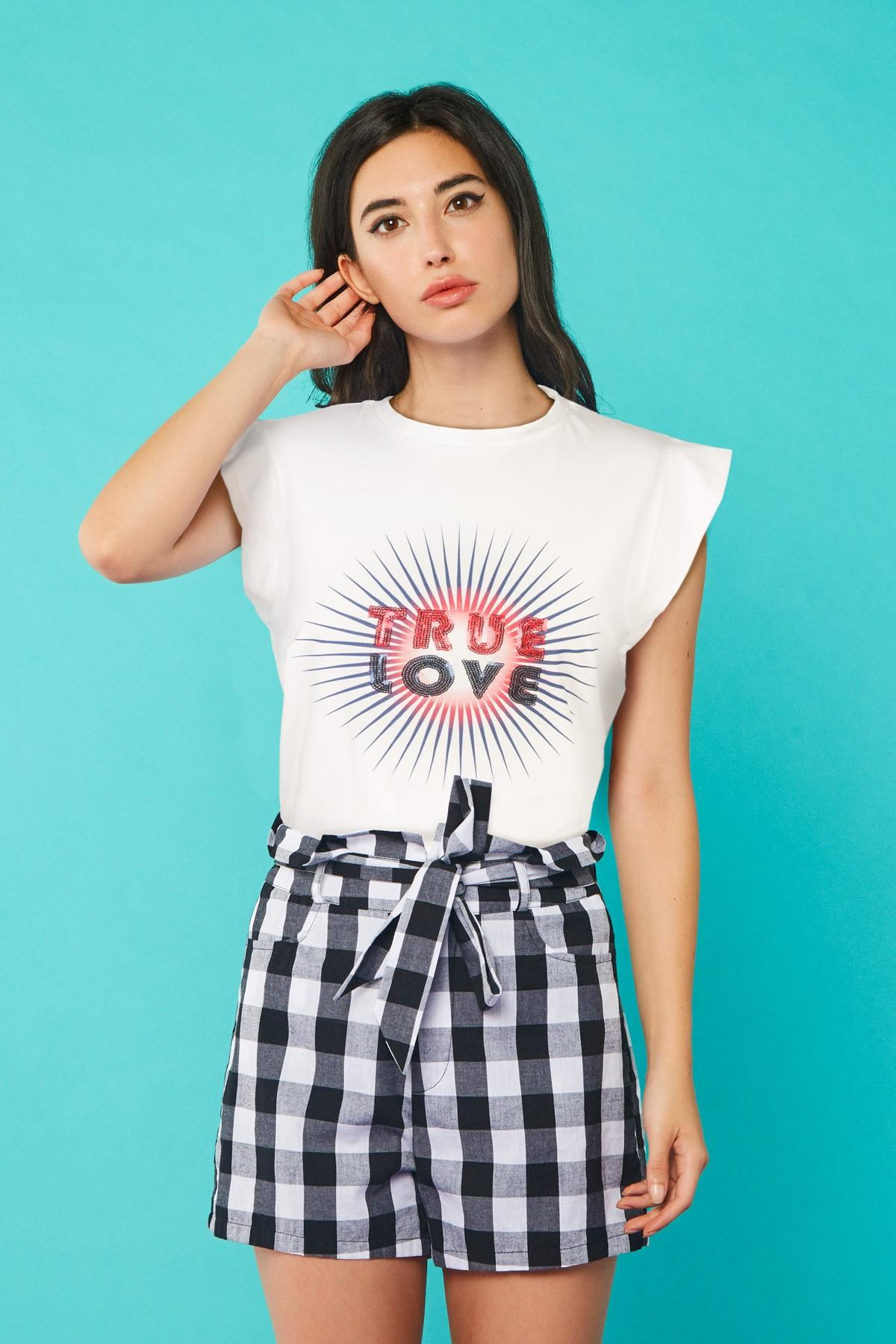 CAMISETA TRUE LOVE, MINUETO, REF. 211065