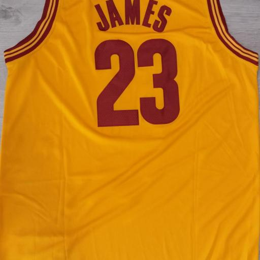 Cleveland Cavaliers #23 LeBron James Gold Stitched 2016 The Finals Alternate Swingman NBA Jersey