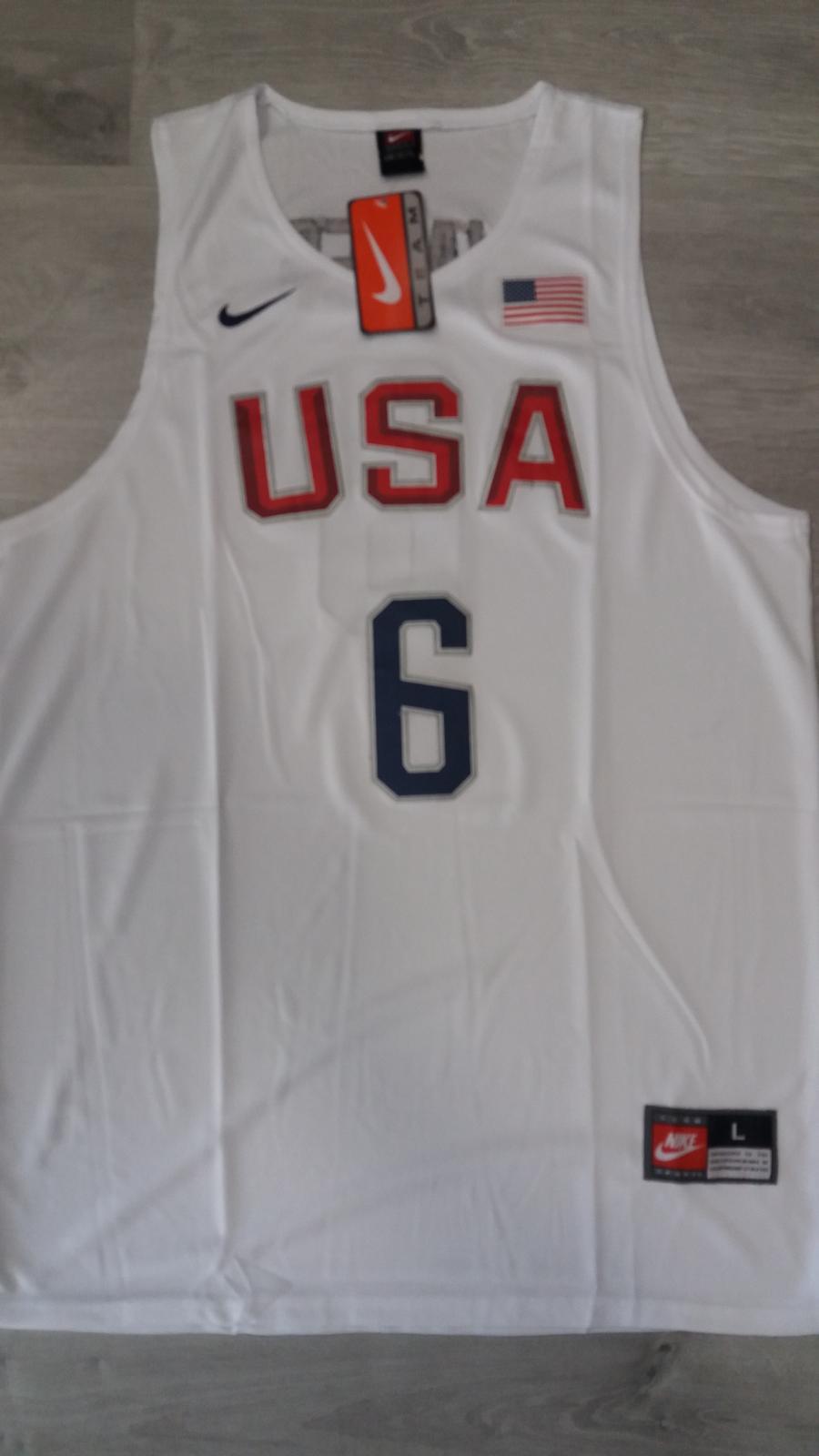 USA National Basketball Team #6 LeBron James White Stitched 2016 Rio de Janeiro Olympic Games Jersey
