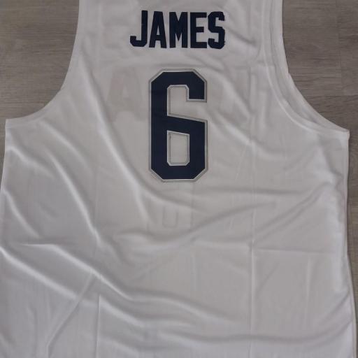 USA National Basketball Team #6 LeBron James White Stitched 2016 Rio de Janeiro Olympic Games Jersey [1]