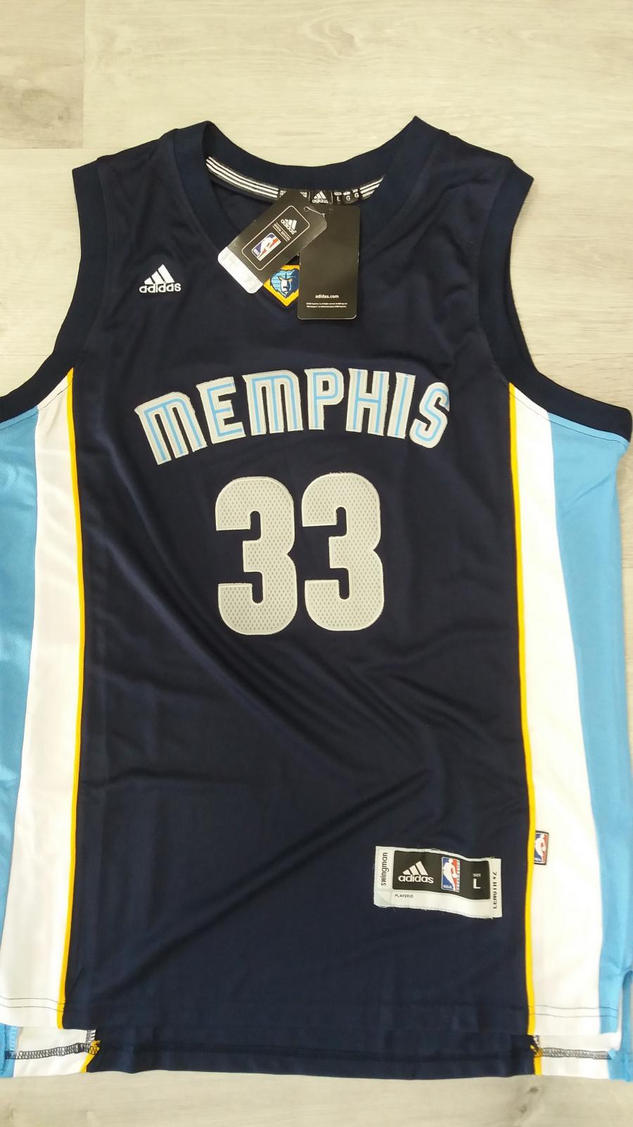 Grizzlies #33 Marc Gasol Revolution 30 Dark Blue Stitched NBA Jersey Swingman