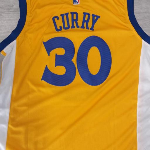 Golden State Warriors #30 Stephen Curry Gold Stitched Adidas Alternate NBA Swingman Jersey [1]