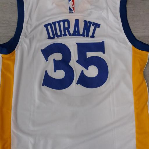 Golden State Warriors #35 Kevin Durant White Stitched Home NBA Swingman Jersey [1]