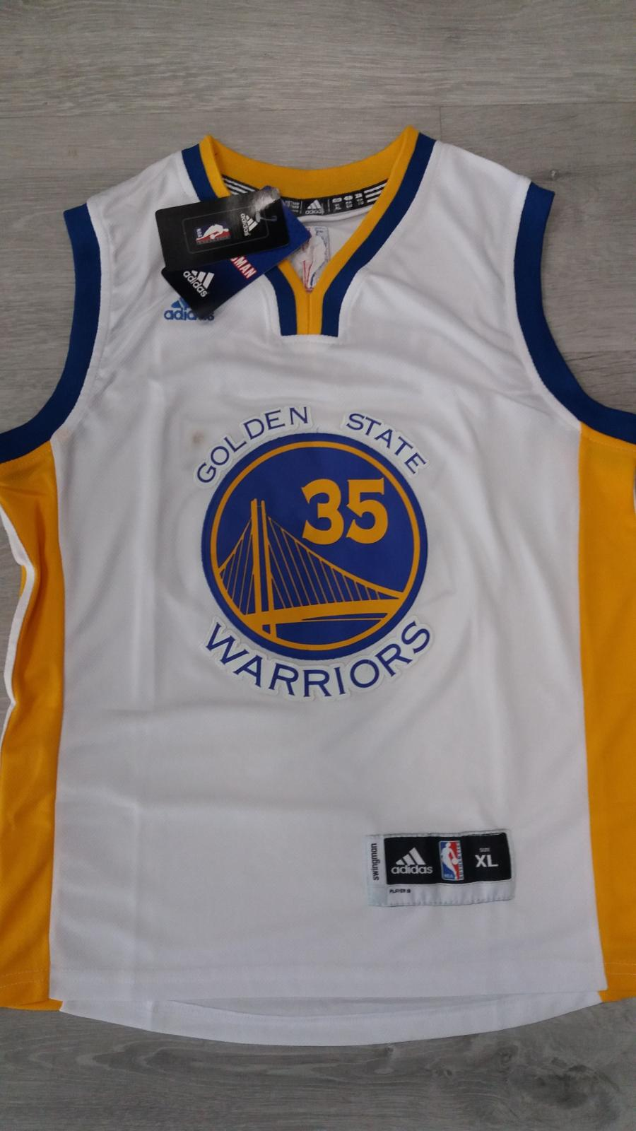 Golden State Warriors #35 Kevin Durant White Stitched Home NBA Swingman Jersey
