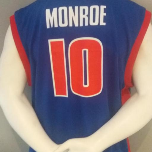 Jersey - Replica - Hombre - Greg Monroe - Detroit Pistons - Road - Adidas [1]