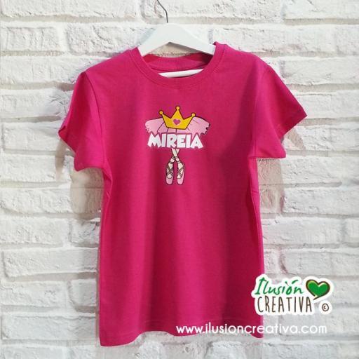 Camiseta Bailarina Personalizada
