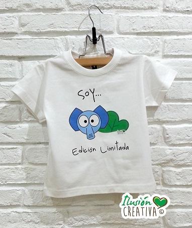 Camiseta Línea Chiquinete elefante Fermín.- Soy edición limitada