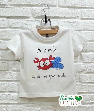 Camiseta  A punto de dar el gran pasito (Cangrejo Serafín)