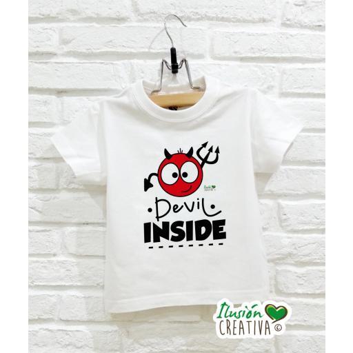 Camiseta Línea Picarona - Devil Inside