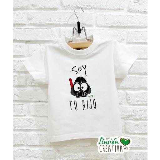 Camiseta Línea Galáctica - Soy tu hijo
