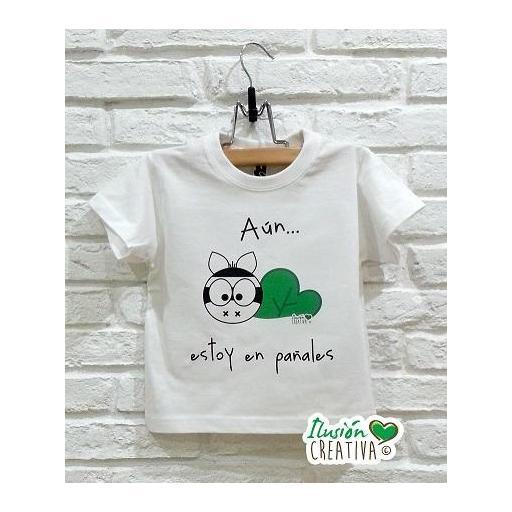Camiseta Línea Chiquinete Cebra Mariluz.- Aún estoy en pañales