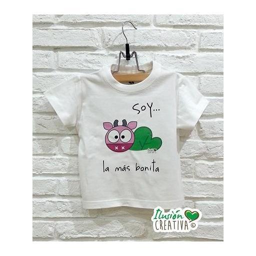 Camiseta Línea Chiquinete Vaca Paca.- Soy la más bonita